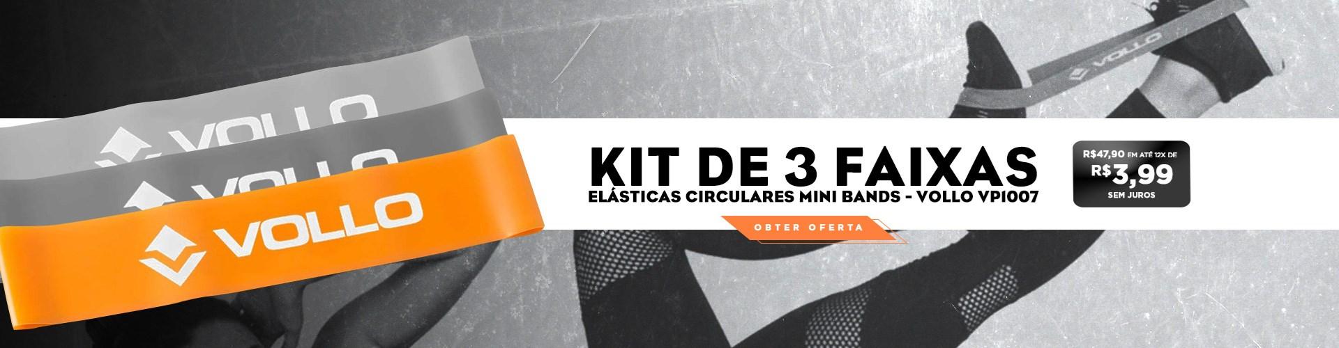 Kit de 3 Faixas Elásticas Circulares Vollo