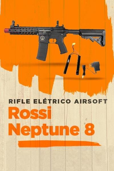 Rifle Elétrico Airsoft Rossi AR15 Neptune