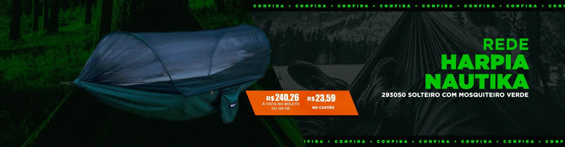 Rede Harpia Nautika 293050 Solteiro com Mosquiteiro Verde