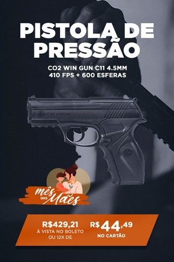 Pistola de Pressão CO2 Win Gun C11