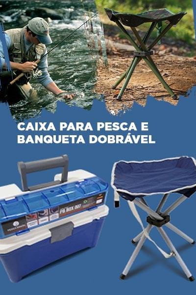 Caixa para Pesca com 3 Estojos Pesca Brasil