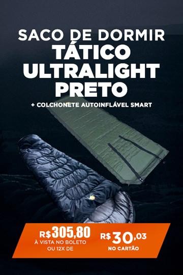 Saco de Dormir Tático Ultralight Preto