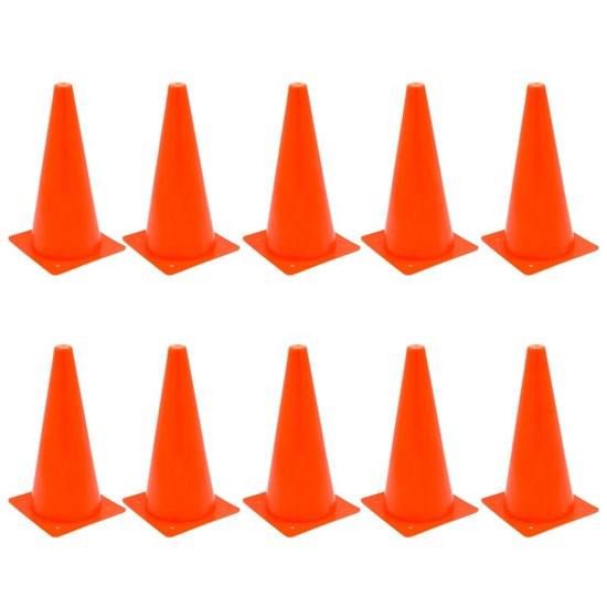 10 Cones de Agilidade 32 cm ZStorm ZS170943 Vermelho