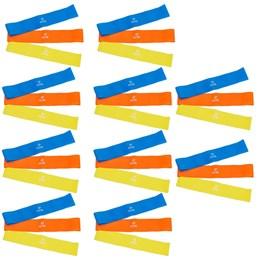 10 Kits Elásticos Mini Bands com 3 Intensidades - ACTE SPORTS T71