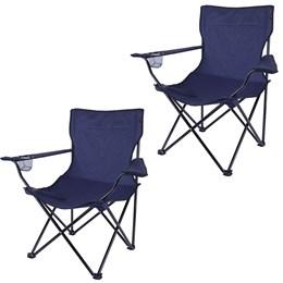 2 Cadeiras Alvorada Desmontável Azul Nautika 290380