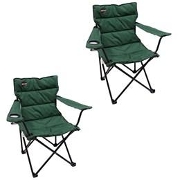 2 Cadeiras Dobráveis Boni com Porta Copo Verde Nautika