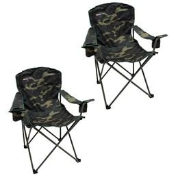 2 Cadeiras Dobráveis com 2 Porta Copos Nautika Pandera Camuflado