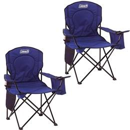 2 Cadeiras Dobráveis com Cooler Térmico e Porta Copo Coleman Azul
