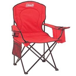 2 Cadeiras Dobráveis com Cooler Térmico e Porta Copo Coleman Vermelho