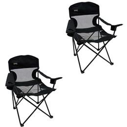 2 Cadeiras Dobrável de Fácil Montagem Fresno Nautika