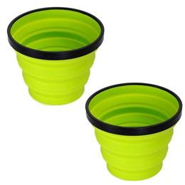 2 Canecas X-Mug Colapsável 480ml Verde para Atividades Outdoor Sea to Summit
