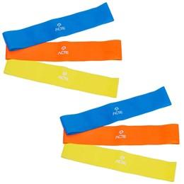 2 Kits Elásticos Mini Bands com 3 Intensidades - ACTE SPORTS T71