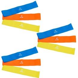 3 Kits Elásticos Mini Bands com 3 Intensidades - ACTE SPORTS T71