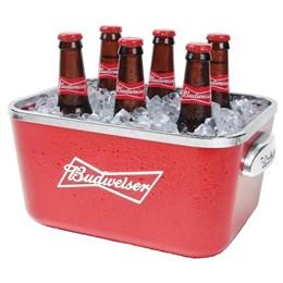 4 Baldes de Gelo Budweiser Ambev 5 Litros para 6 Long Necks Vermelho