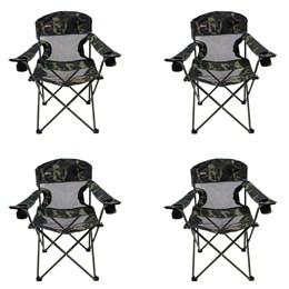 4 Cadeiras Dobráveis com 2 Porta Copos Fresno Nautika Camuflado