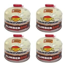 4 Cartuchos de Gás 230g com Válvula de Segurança - Guepardo Climber Gas