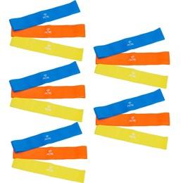 5 Kits Elásticos Mini Bands com 3 Intensidades - ACTE SPORTS T71