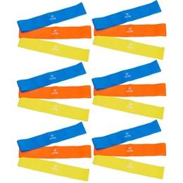 6 Kits Elásticos Mini Bands com 3 Intensidades - ACTE SPORTS T71