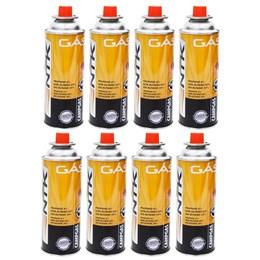 8 Cartuchos de Gás CAMPGÁS com Válvula de Segurança Nautika