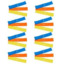 8 Kits Elásticos Mini Bands com 3 Intensidades - ACTE SPORTS T71