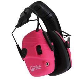 Abafador de Som Eletrônico para Tiro Esportivo Pulse com Entrada P2 Rosa