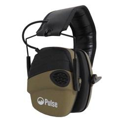 Abafador de Som Eletrônico para Tiro Esportivo Pulse com Entrada P2 TAN