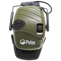 Abafador de Som Eletrônico para Tiro Esportivo Pulse Verde com Entrada P2