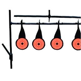 Alvo Spinner Tático para Armas de Pressão 5 Alvos e 2 Níveis Metal Nautika