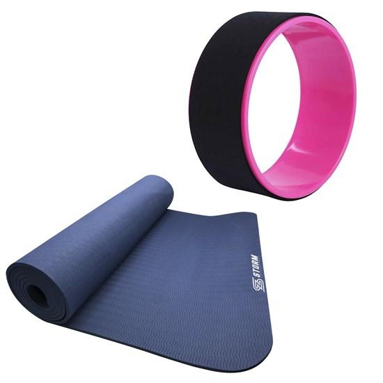 Anel de Yoga para Exercícios Abdominais Rosa + Tapete Colchonete para Pilates Zstorm
