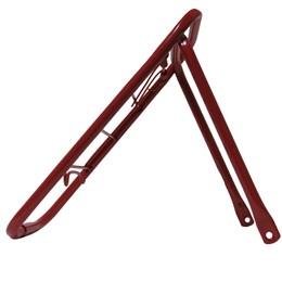 Bagageiro Tubular Alvoteq Barra Forte para Bicicleta Aro 24 Vermelho