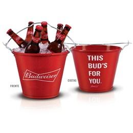 Balde de Gelo Budweiser Alumiart Falcão 5 Litros Abridores Acoplados