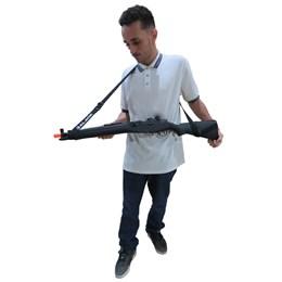 Bandoleira 2 Pontas Universal Alk para Carabinas De Pressão e Rifles Airsoft