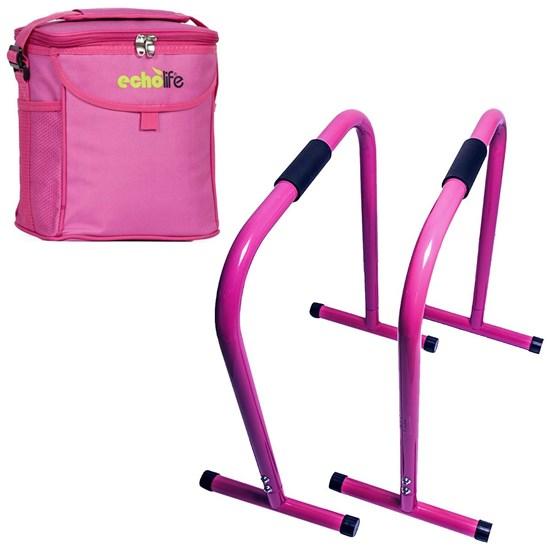 Barra Paralela Equalizer ACTE Funcional + Bolsa Térmica 9 litros Rosa
