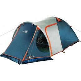 Barraca Camping Iglu Indy 4 Pessoas 152450 + Colchão Inflável Zenite Com Inflador Pé Casal Nautika