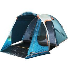 Barraca Camping Iglu Indy 6P Nautika + Colchão Inflável Solteiro Aveludado Star