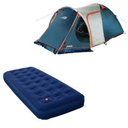 Barraca Camping Iglu Nautika Indy 4 Pessoas + Colchão Inflável Solteiro Zenite