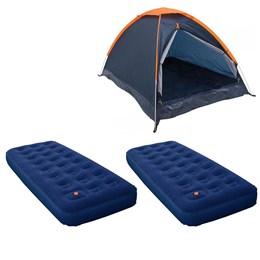 Barraca Camping Iglu Nautika Panda 3 Pessoas + 2 Colchões Infláveis Solteiro Zenite