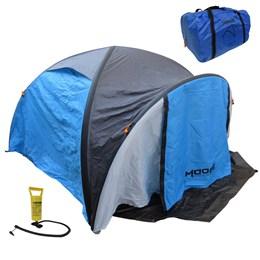 Barraca Camping Inflável Moose 2041B 4 Pessoas com Inflador e Bolsa de Transporte