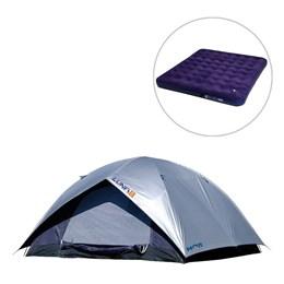 Barraca Camping Luna até 5 Pessoas + Colchão Inflável Casal King com Inflador - Mor