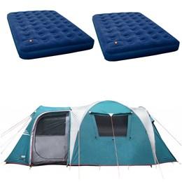 Barraca Camping Nautika Arizona GT 9/10 Pessoas + 2 Colchões King Size Inflavel Zenite