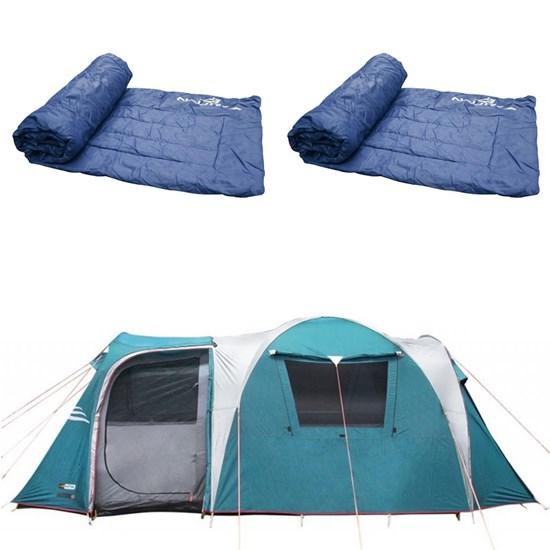 Barraca Camping Nautika Arizona GT 9/10 Pessoas + 2 Colchonetes Camp Mat