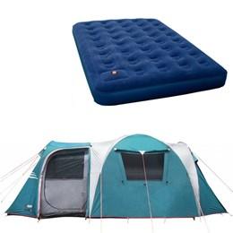 Barraca Camping Nautika Arizona GT 9/10 Pessoas + Colchão King Size Inflavel Zenite