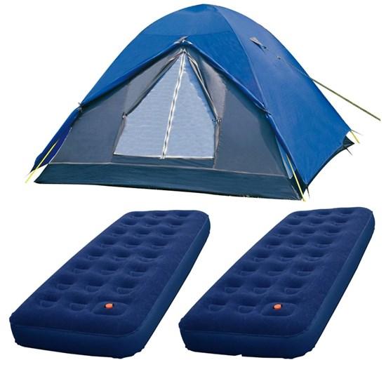 Barraca Camping Nautika Fox 8 Pessoas + 2 Colchões Solteiro Inflável Zenite
