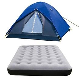 Barraca Camping Nautika Fox 8 Pessoas + Colchão Casal Inflável Star
