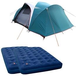 Barraca Camping Nautika Laredo até 9 Pessoas + 2 Colchões Casal Inflável Zenite