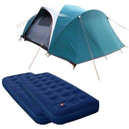 Barraca Camping Nautika Laredo até 9 Pessoas + 2 Colchões Solteiro Inflável Zenite