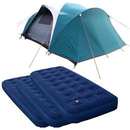 Barraca Camping Nautika Laredo até 9 Pessoas + 3 Colchões Solteiro Inflável Zenite