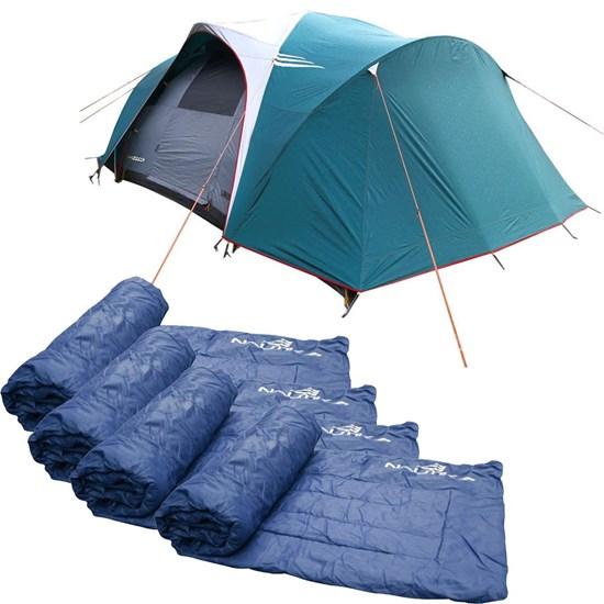 Barraca Camping Nautika Laredo até 9 Pessoas + 4 Colchonetes Camp Mat