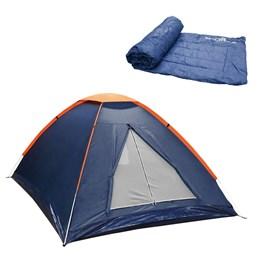 Barraca Camping Nautika Panda 2 Pessoas + Colchonete Camp Mat Leve e Resistente