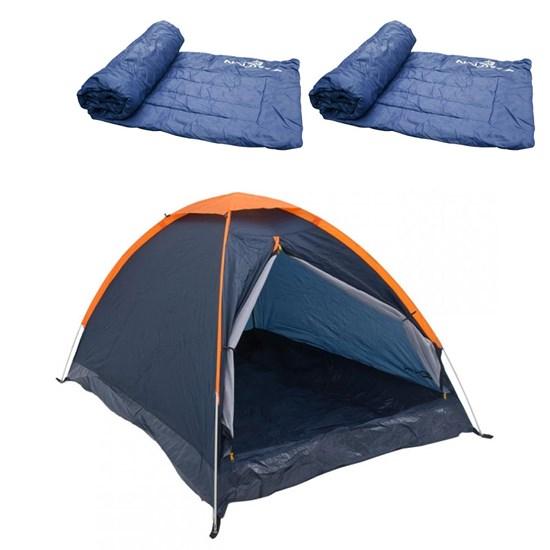 Barraca Camping Nautika Panda 6 Pessoas + 2 Colchonetes Camp Mat Leve e Resistente